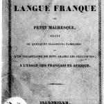 Diccionario para uso de los colonos franceses en Argelia - 1830.