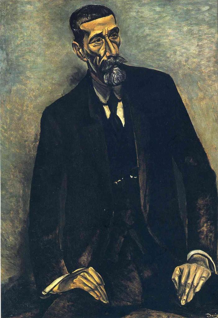 André Derain. Retrato de Iturrino. 1914.