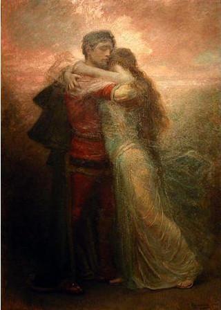 """Rogelio de Egusquiza. """"Tristán e Isolda. Vida."""" 1912"""