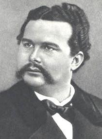 Luswig II de Baviera fotografiado por Joseph Albert en 1886.