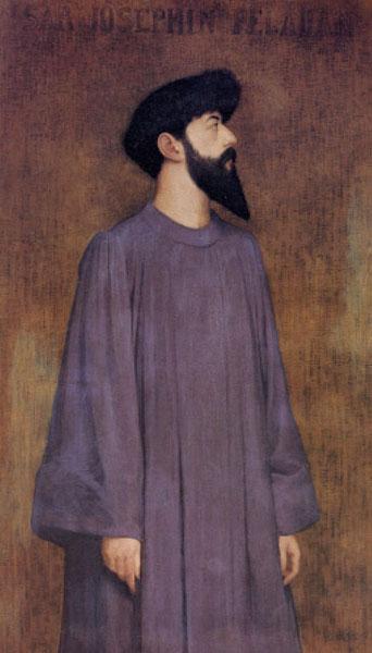 Alexandre Séon. Retrato de Joséphin Peladan (hacia 1892).