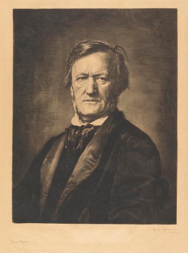 Wagner. 1883. Aguafuerte. 45,8 x 35,3 cm