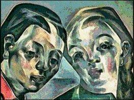 Detalle de 'Les deux soeurs' (1921), de María Blanchard.
