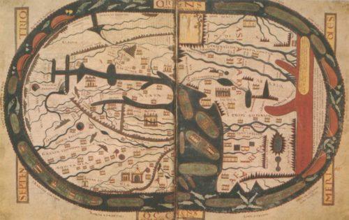 Mapamundi del Beato de Saint-Sever