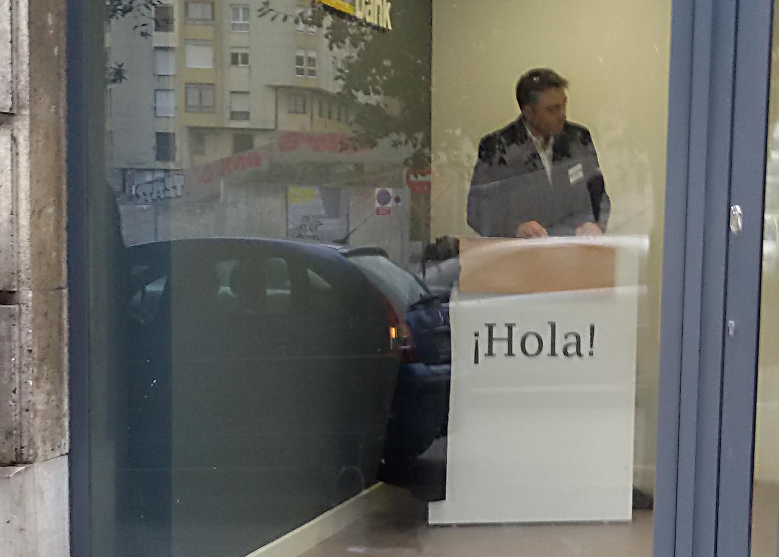 Hola de cajero. | RPLl