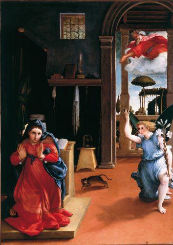 Lorenzo Lotto - La Anunciación